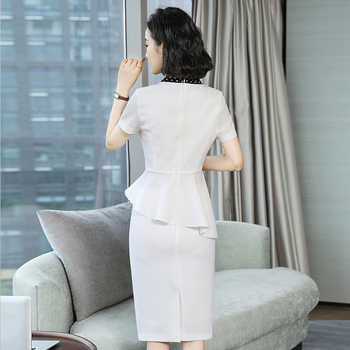 Fashion medical beauty industry white professional suit OL short-sleeved workplace beauty salon manager dress front desk