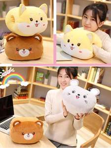 Cushions Pillow Warmers Plush-Toys Animal Soft Lovely Fabric 30x25x20cm 5-Patterns Handcuffs