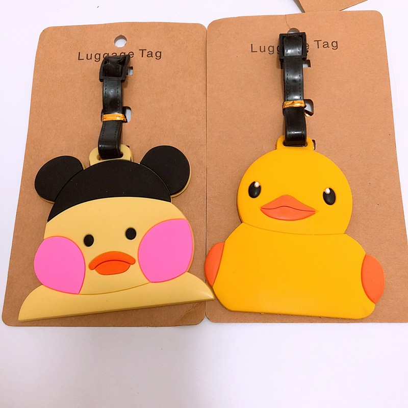1pcs 1PCS B.DUCK Anime Luggage Tag Bag Brand Suitcase ID Address Portable Tags Holder Baggage Travel Labels New