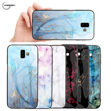 Marble Shell Phone Cases For Samsung Galaxy J2 J4 Prime J3 J5 J7 Pro J4 J6 Plus J330 J530 J730 Stone Silicone TPU + Glass Covers(China)