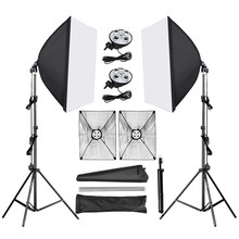Photo Studio Kit Diffuser Light 50*70cm Continuous Lighting Softbox With E27 Base Holder 2M Light Stand Tripod Camera Accessorie