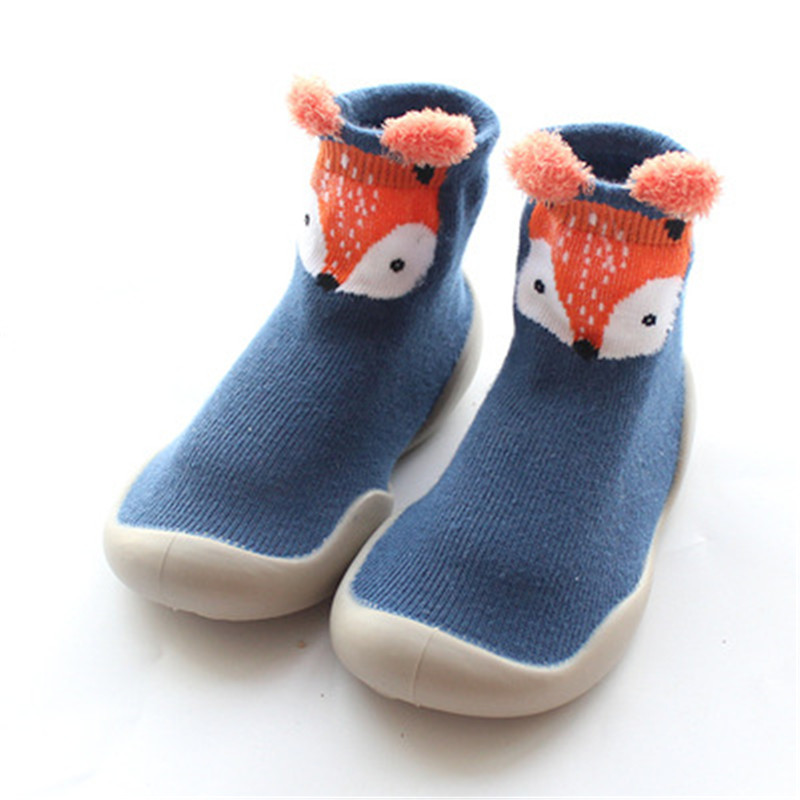 Toddler Baby Knitted Leopard Floor Socks Shoes with Rubber Soles Infant Anti-slip Indoor Socks Newborn Spring Summer Autumn 2