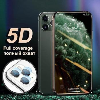 Verre de protection trempé sur le pour iPhone 7 11 X XR protecteur d'écran 8 Plus 6S 6 7 verre pour iPhone 11 Pro Max XS verre de caméra
