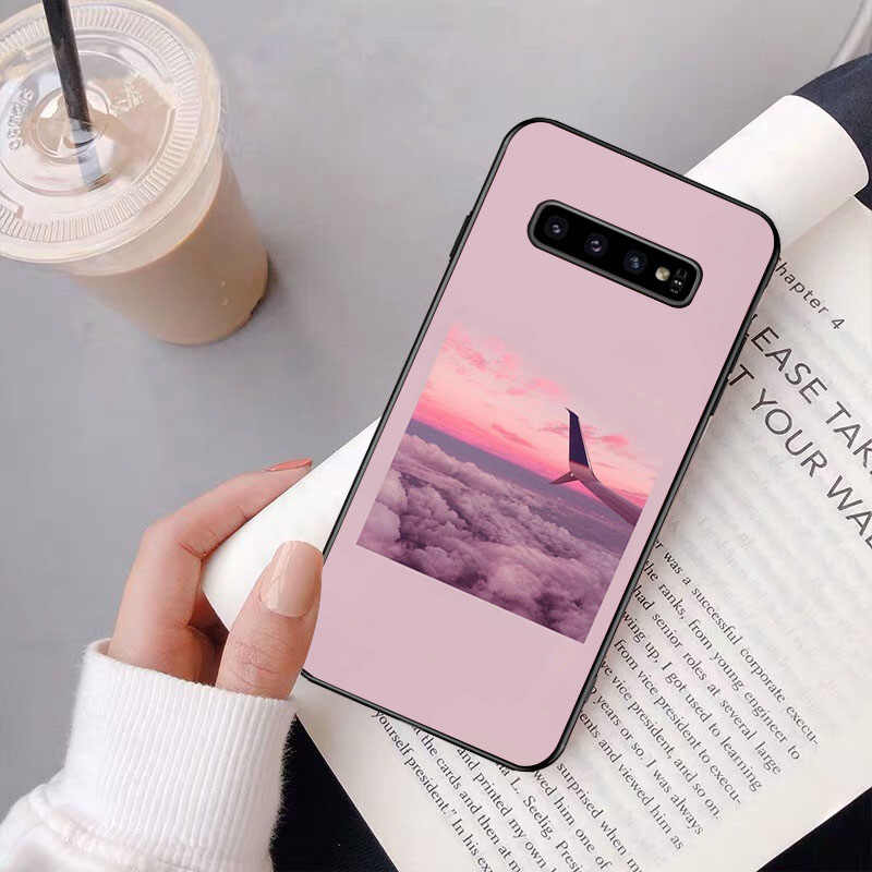 NBDRUICAI الوردي جماليات الأغاني حافظة هاتف لينة من البولي يوريثان غطاء لسامسونج S9 زائد S5 S6 حافة زائد S7 حافة S8 زائد S10 E S10 زائد