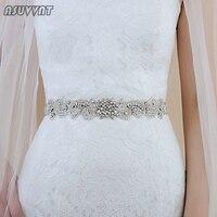 Fashion Wedding Belts Flower Satin Wedding Dress Bridal Luxury Rhinestone Belt Girdle Accessories Crystal Belt For Party Dress