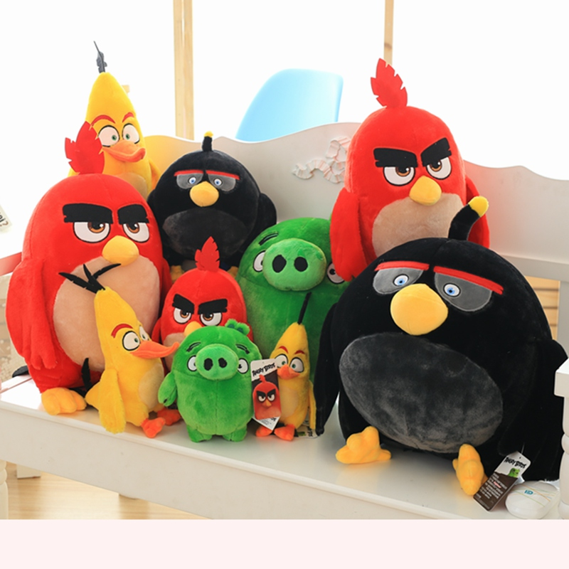 1pcs Red Chuck Bomb Bad Piggies Plush Toy Cute Soft Toy Holiday Gifts For Children Children's Birthday Present