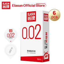 Elasun 0.02mm Ultra Thin Plus Size Condoms Contraceptive Intimate Goods Sexy My Men Box To Taste Lesbian Gay Big Dick Condom(China)