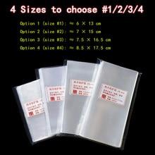 100 sztuk torba ochronna na banknot papieru znaczek kolekcja Shell rękawy uchwyt torba polimerowa rozmiar 1/2/3/4/5/6 torby do przechowywania Lot