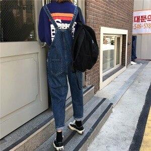 Image 3 - Jumpsuits ผู้หญิง Kawaii การ์ตูนเย็บปักถักร้อยเรียบง่ายอินเทรนด์ DENIM กางเกงคุณภาพสูงสตรีสไตล์เกาหลี