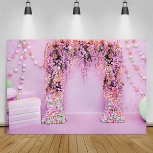 Image 3 - Laeacco خلفية للتصوير الفوتوغرافي لأزهار الحائط ، خلفية للتصوير الفوتوغرافي لحفلات الزفاف ، وحفلات استقبال المولود الجديد ، واستوديو الصور