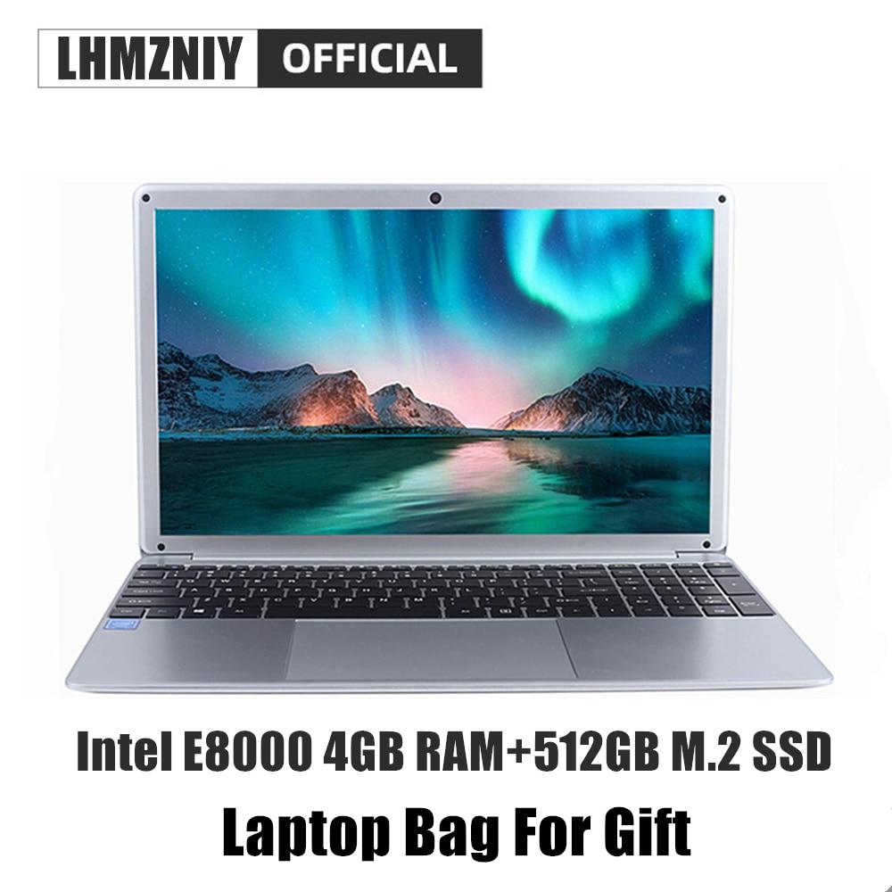 LHMZNIY RX-5 Student Laptop 15.6 Inch FHD IPS Screen Intel E8000 4GB RAM 256GB M.2 SSD Netbook 1080P