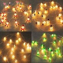 2M Snowflake Santa Claus LED Garland String Lights Merry Christmas Decoration for Home Xmas Tree Ornament Navidad Natal New Year