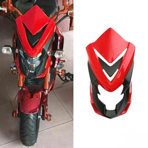 brisa da motocicleta decorar guarda tampa do farol carenagem para honda msx125sf msx125 2013 2016
