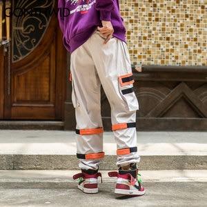 Image 3 - GONTHWID erkek yan cepler kargo Harem pantolon 2020 Hip Hop rahat erkek taktik Joggers pantolon moda rahat Streetwear pantolon