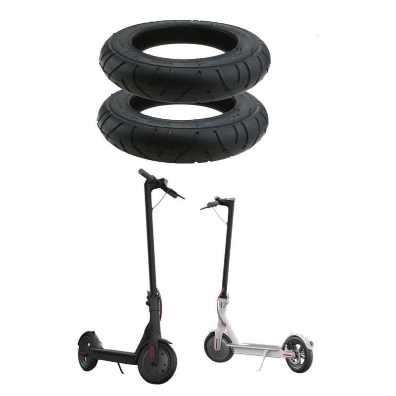 2Pcs Wanda Tire Tyres For Xiaomi Mijia M365 10 Inch Electric Scooter Tire Tyre10 X 2 Inflatable Solid Tire For Xiaomi Mi Scooter