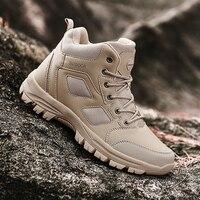 Big Size 39-49 Outdoor Jacht Laarzen Mannen Hi-Top Wandelen Trekking Schoenen Voor Mannen Ademend Non-slip Sport Klim Rock Sneakers Man