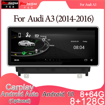 Android 10 Car Multimedia DVD Stereo Radio Player GPS Navigation Carplay Auto for AUDI A3(2014-2016) Sportback 8v 8p 2din image