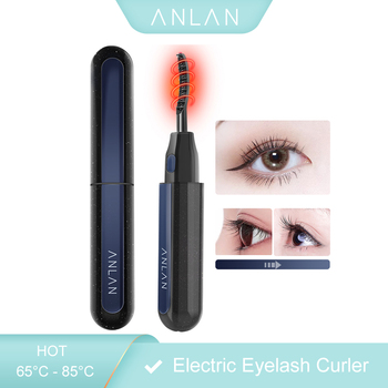 ANLAN New Electric Eyelash Curler USB Rechargeable Electric Heated Eyelash Long-Lasting Electric Ironing Eyelash Curler Device недорого