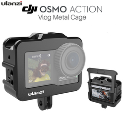 ULANZI Vlogging Video Cage for DJI Osmo Action Protective Aluminum Housing Case Shell GoPro Adapter Video Cage r25