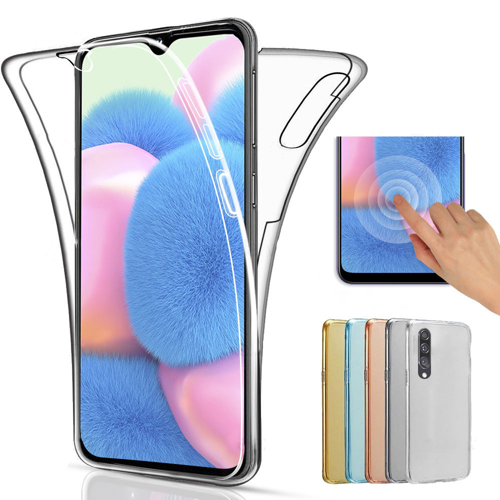 Double Side Clear Silicon Phone Case For Samsung Galaxy A41 A71 A70 A51 A50 Cover For Galaxy S10 Note10pro Phone-Protector