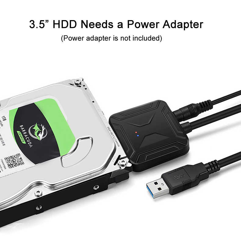 "USB 3.0 إلى SATA III كابل محول مع UASP SATA لتحويل USB ل 2.5 ""3.5"" قرص صلب HDD ومحركات الحالة الصلبة SSD"