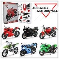Maisto 1:12 Alloy Assembly Motorcycle Model Toy DIY Model Building Kits CBR600RR YZF R1 Monster 696 Motor Models Toys For Kids