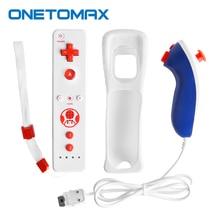 2 In 1 Ingebouwde Motion Plus Remote Controller Voor Wii Nunchuck Gamepad Met Siliconen Case Motion Sensor Voor nintend Wii Console