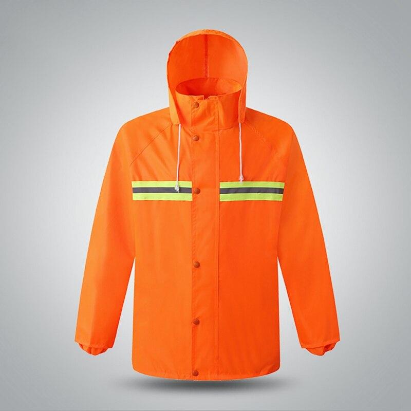 Raincoat Reflective Rain Pants Suit Hooded Long Sleeve Jacket Pants Kit High Visibility Windproof Waterproof Traffic Car