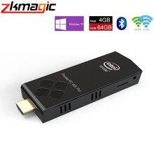 T5 Pro Stick мини ПК 4 Гб 64 ГБ 32 ГБ eMMC Windows 10 лицензированный Intel Atom x5-Z8350 BT4.0 2,4G/5G двойной WiFi карманный компьютер мини ПК