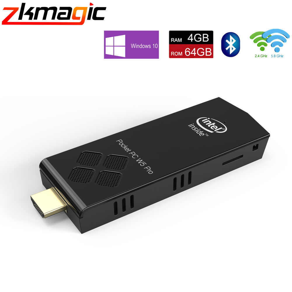 T5 Pro Stick MINI PC 4GB 64GB 32GB eMMC Finestre 10 licenza Intel Atom x5-Z8350 BT4.0 2.4 g/5G Dual WiFi Tasca Del Computer mini pc