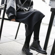 цены на Autumn Winter knit Maxi Skirt Women's  Plus Size Vintage Black Long Skirt jupe femme Streetwear High Waist Sexy Harajuku skirts  в интернет-магазинах