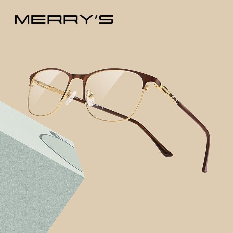 MERRYS DESIGN Retro Cat Eye Women Glasses Frame Ladies Fashion Trending Eyewear Myopia Prescription Optical Eyeglasses S2113