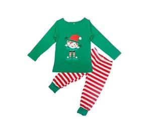 Image 5 - 가족 크리스마스 잠옷 세트 가족 일치하는 옷 성인 어린이 잠옷 세트 아기 romper 크리스마스 중지 elfing 가족 잠옷