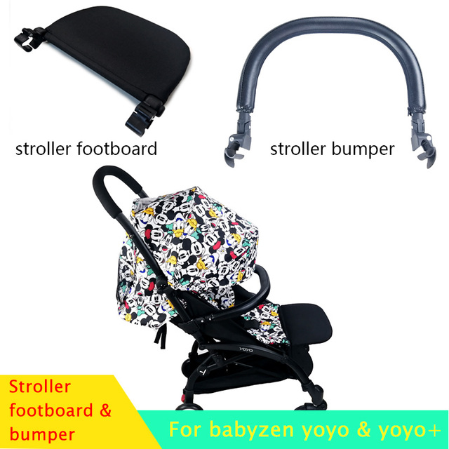 Baby Stroller Footboard & Leather Cloth Material Handle Bar Stroller Accessories For Babyzen Yoyo Yoya Babytime Pram Bumper