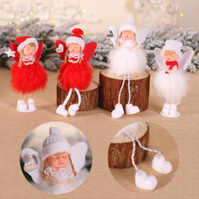QIFU Sonny Angel Christmas Ornaments Christmas Table Decorations 2019 Navidad Angel Christmas Ornaments Xmas Tree Happy New Year 12pcs lot limited edition sonny angel kewpie doll 7 5cm pvc mini figure cute figurine sonny angel toys for kids
