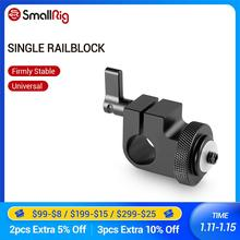 SmallRig Dslr Rig System 15mm Rod Clamp mit 1/4 Gewinde Loch zu Befestigen Kamera Mikrofone/Sound Recorder 860