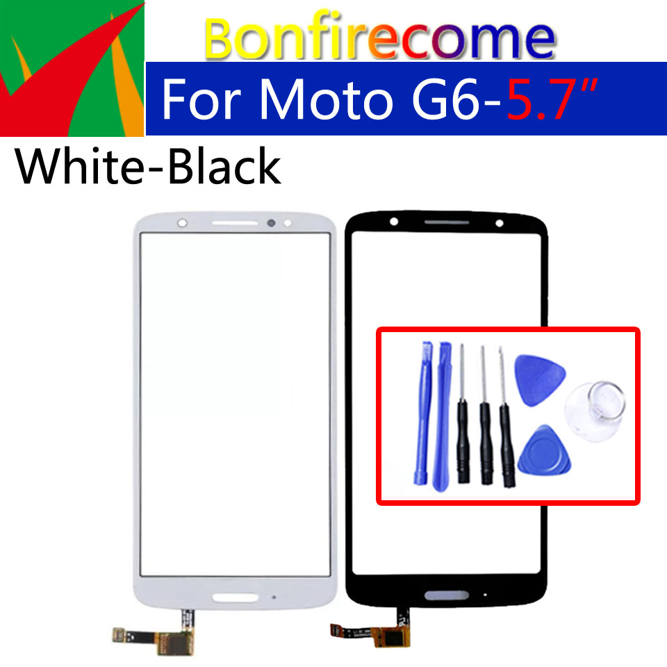 Touchscreen For Motorola-Moto G6 XT1925 XT1925-3 XT1925-5 Touch Screen Digitizer Front Glass Panel Sensor Replacement 5.7 Inch