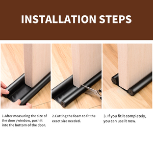 Image 5 - Foldable Under Door Draft Stopper Washable Leather Door Seal Strip Sound Proof and Dust Proof  Window Waterkering Strip