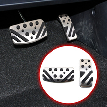 AT Pad Fit For Mitsubishi Outlander ASX Lancer EX 2009-2018 Parts Gas Fuel Accelerator Oil Brake Pedal Cover Anti-skid Accessory car gas accelerator pedal clutch and brake pedal for mitsubishi outlander asx lancer ex 3pc lot car styling
