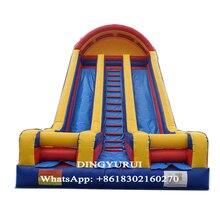 Открытый развлекательный надувной слайд двухполосный слайд для детей и взрослых