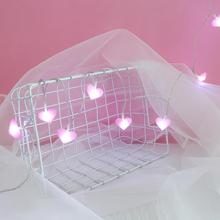 Pink LED Fairy Lights Love Heart  1.5m 10LEDs Lantern Navidad String L