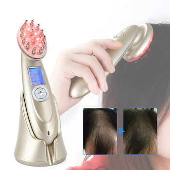 цена на obecilc Laser comb Electric Hair Brushes rf ems RED Laser Therapy light vibrate massager Hair Growth Anti Hair Loss hair care