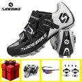 Обувь для велоспорта SIDEBIKE для мужчин sapatilha ciclismo mtb Набор для езды на велосипеде Pro Racing горный велосипед дышащая обувь для езды на велосипеде с...