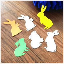 3pcs Rabbit Metal Cutting Dies DIY Scrapbooking Embossing Paper Cards Die Cuts Craft Decorative 3 pcs set flowers petals dies craft metal cutting dies cut die cuts scrapbooking paper card craft embossing die cuts 2020