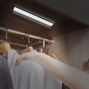 Smart 30 LED human induction light control ultra-thin USB charging night light wall cabinet wardrobe lamp cabinet light ultra light настольный светильник собака 18вт клл ultra light голубой