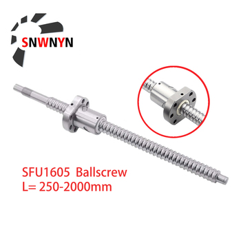 RM1605 Ballscrew SFU1605 250 300 350 400 450 500 550 600 650 1000 1500mm Roller Screw End Machining With Single Ball Nut For CNC sfu1605 ballscrew set sfu1605 550mm ballscrew 1605 ball nut bk12 bf12 6 35 10 coupler cnc parts rm1605