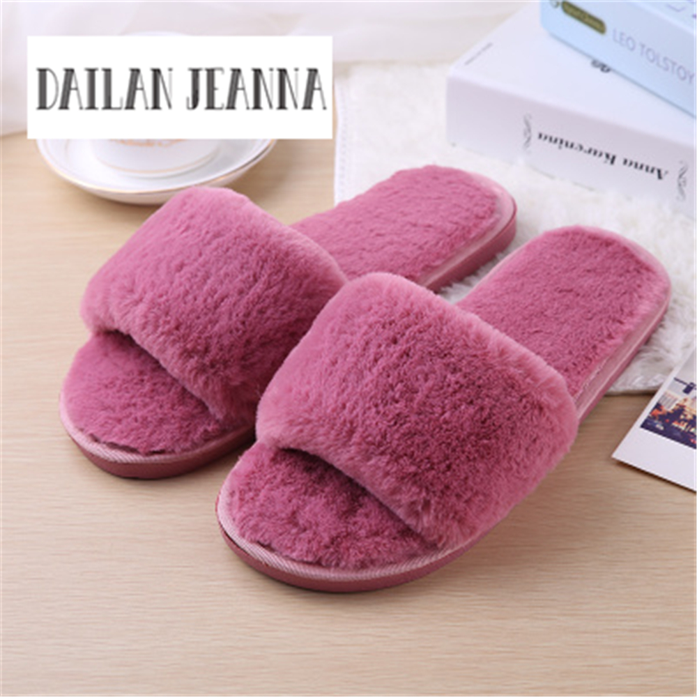 Best-selling europe united states 2020 new autumn / winter parent-child warm home comfort bedroom shoes slippers women fashion