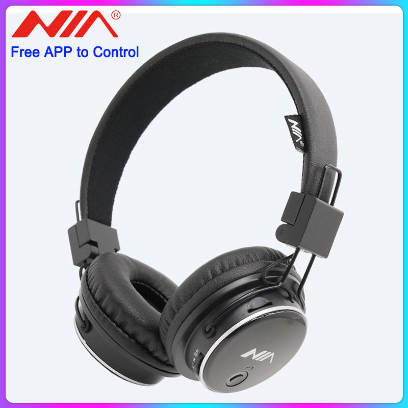 Original NIA Q8 Wireless Bluetooth Headphone Foldable Stereo Headsets with Mic Sport Earphone Support TF Card FM Radio App image