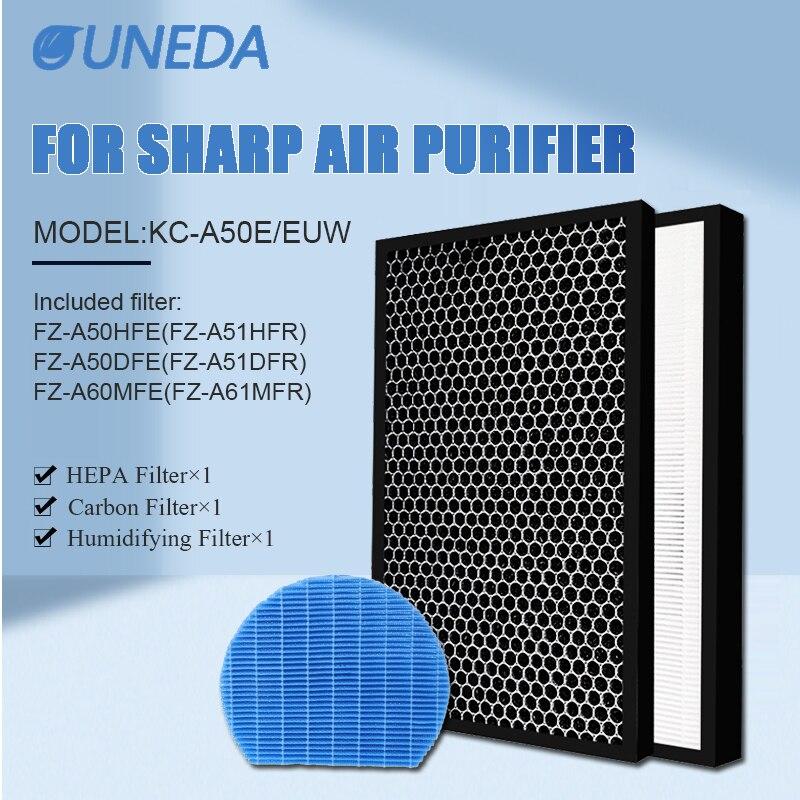 FZ A51HFR FZ A51DFR FZ A61MFR Воздухоочистители угольным HEPA фильтр Замена для Sharp KC A50EUW KC A50E увлажнитель воздуха Запчасти Запчасти для воздухоочистителя      АлиЭкспресс