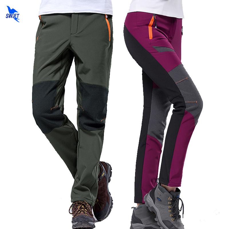 US Mens Waterproof Outdoor Skiing Climbing Pants Winter Warm Fleece Trousers New